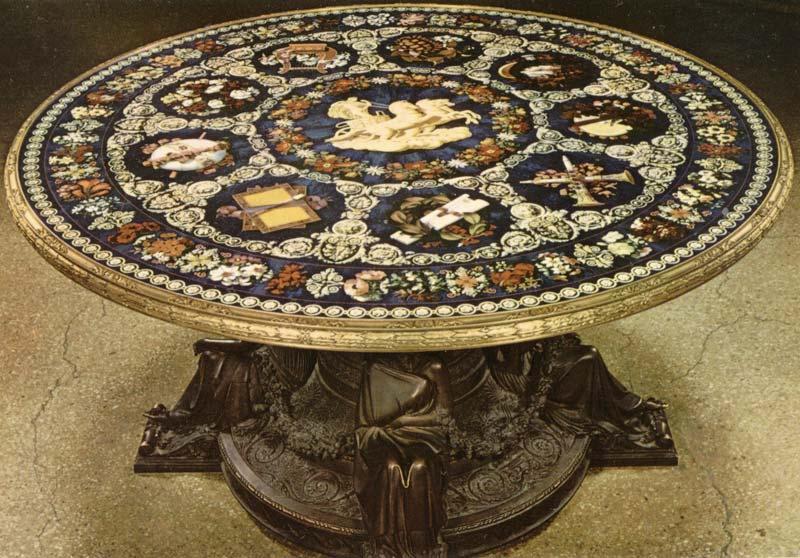 Florence mosaic mosaico e scagliola lavorazione for Piani di gabinetto artigiano